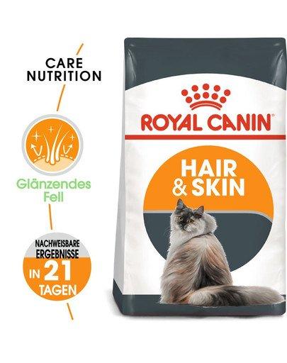 ROYAL CANIN Hair & Skin Care Katzenfutter trocken für gesundes Fell 4 kg 4518