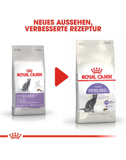 ROYAL CANIN STERILISED 37 Trockenfutter für kastrierte Katzen 400 g