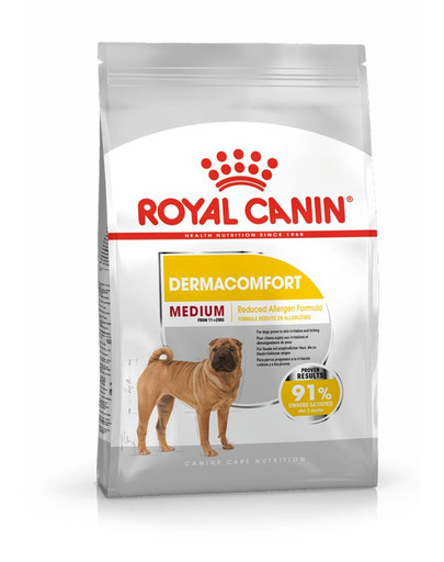 ROYAL CANIN MEDIUM Dermacomfort Trockenfutter für mittelgroße Hunde mit empfindlicher Haut 3 kg
