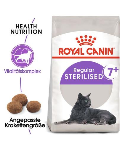 ROYAL CANIN STERILISED 7+ Trockenfutter für ältere kastrierte Katzen 400 g