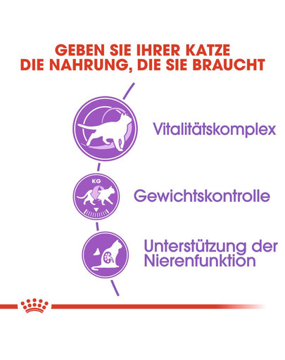 ROYAL CANIN STERILISED 7+ Trockenfutter für ältere kastrierte Katzen 10 kg