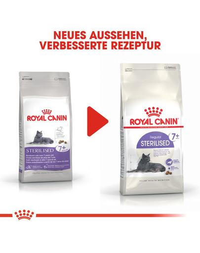 ROYAL CANIN STERILISED 7+ Trockenfutter für ältere kastrierte Katzen 1,5 kg