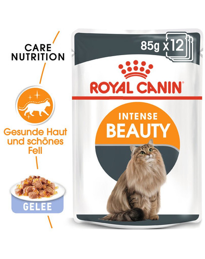 ROYAL CANIN Intense Beauty Katzenfutter nass in Gelee für schönes Fell 12 x 85 g 42330