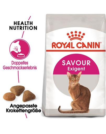 ROYAL CANIN SAVOUR EXIGENT Trockenfutter für wählerische Katzen 10 kg+2 kg Gratis