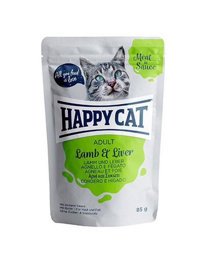 HAPPY CAT Meat in Sauce Lamb & Liver (Lamm & Leber) 85 g 53678