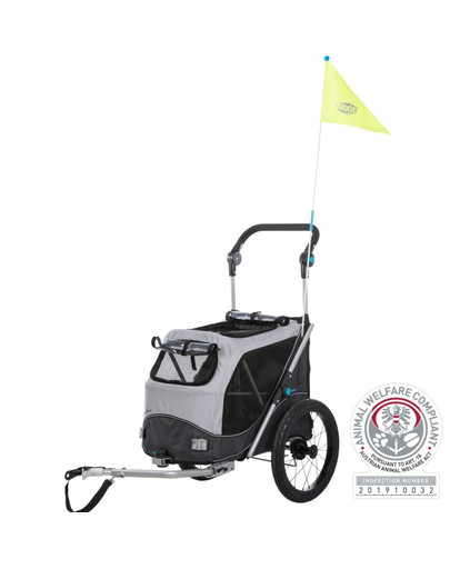 TRIXIE Fahrrad-Anhänger für Hunde S 58×93×74/114 cm 53691