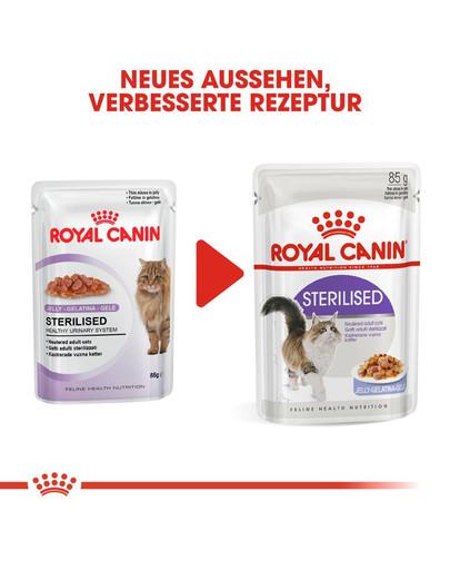 ROYAL CANIN STERILISED Nassfutter in Gelee für kastrierte Katzen 12x85g