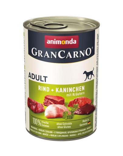 ANIMONDA GranCarno Original Adult RIND + KANINCHEN MIT KRÄUTERN 400 g