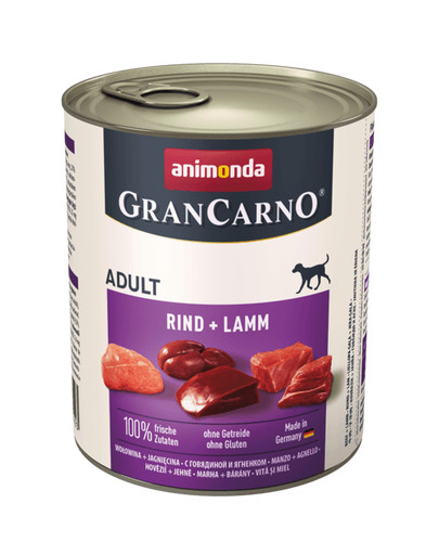 ANIMONDA GranCarno Original Adult RIND + LAMM 800 g