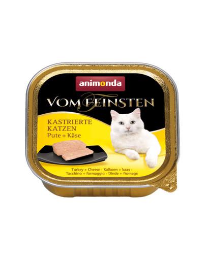 ANIMONDA Vom Feinsten - kastrierte Katzen  PUTE + KÄSE 100 g