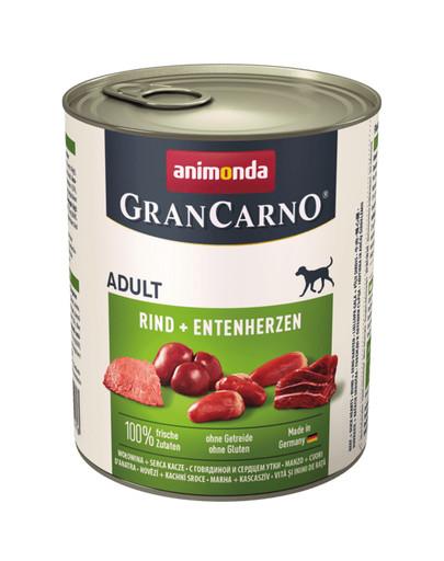 ANIMONDA GranCarno Original Adult RIND + ENTENHERZEN 800 g