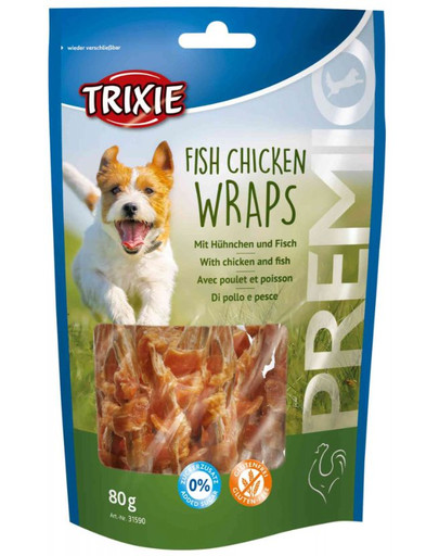 TRIXIE PREMIO Fish Chicken Wraps 80g