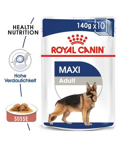 ROYAL CANIN MAXI ADULT Nassfutter für große Hunde in Soße 10 x 140 g 48824