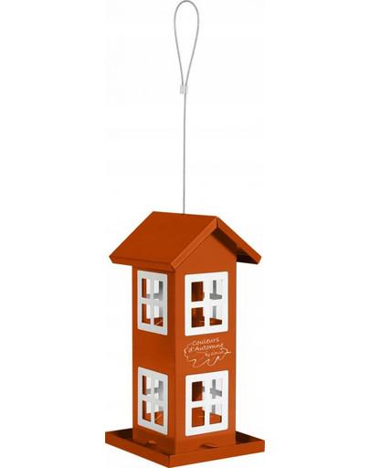ZOLUX Vogel-Futterhaus mit 8 Fenstern Orange 51613