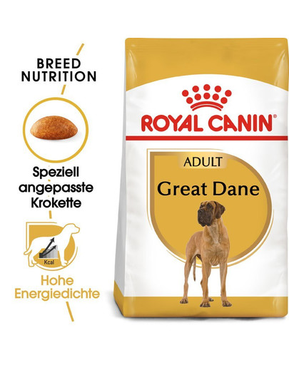ROYAL CANIN Great Dane Adult Hundefutter trocken für Deutsche Doggen 24 kg (2 x 12 kg) 54974