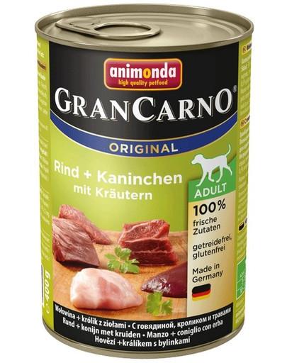 ANIMONDA GranCarno Original Adult RIND + KANINCHEN MIT KRÄUTERN 800 g
