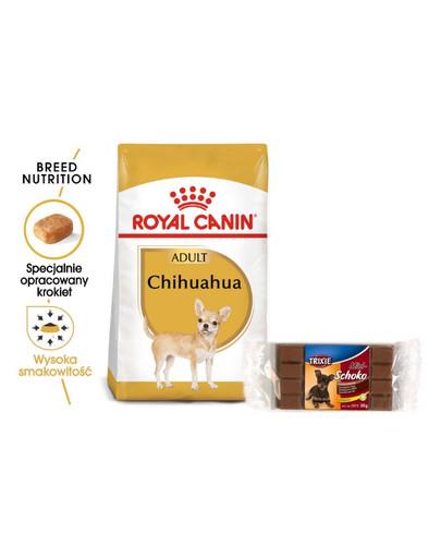 ROYAL CANIN Chihuahua Adult Hundefutter trocken 3 kg + TRIXIE Hundeschokolade Mini 54775