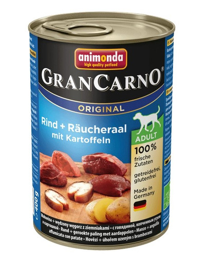ANIMONDA GranCarno Original Adult RIND + RÄUCHERAAL MIT KARTOFFELN 400 g