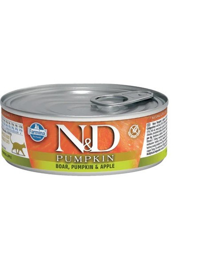 FARMINA N&D WILDSCHWEIN, KÜRBIS & APFEL ADULT NASSFUTTER 80g 53124