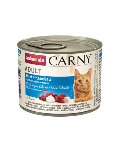 ANIMONDA Carny Adult Rind + Kabeljau mit Petersilienwurzel 12 x 200 g 55864