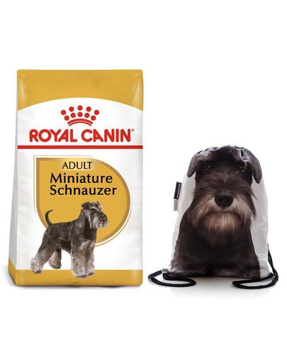 ROYAL CANIN Miniature Schnauzer Adult Hundefutter trocken für Zwergschnauzer 7.5 kg + Sportbeutel 56326