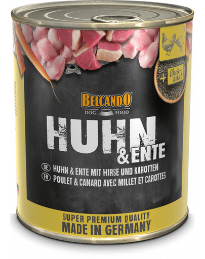 BELCANDO HUHN & ENTE MIT HIRSE & KAROTTEN 800 g