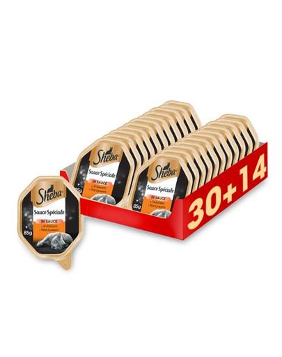 SHEBA Sauce Speciale Frikassee mit Truthahn und Gemüse 44 x 85g 59178
